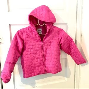 Lilly Pulitzer Girls size 7 pink quilted jacket